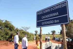 Após 58 anos de espera, Caiado inaugura ponte sobre Córrego Cachoeirinha, em Caçu